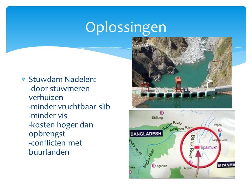  Slechte watervoorziening, grondwater vervuild, grondwatervoorraden moeilijk te bereiken i.v.m.