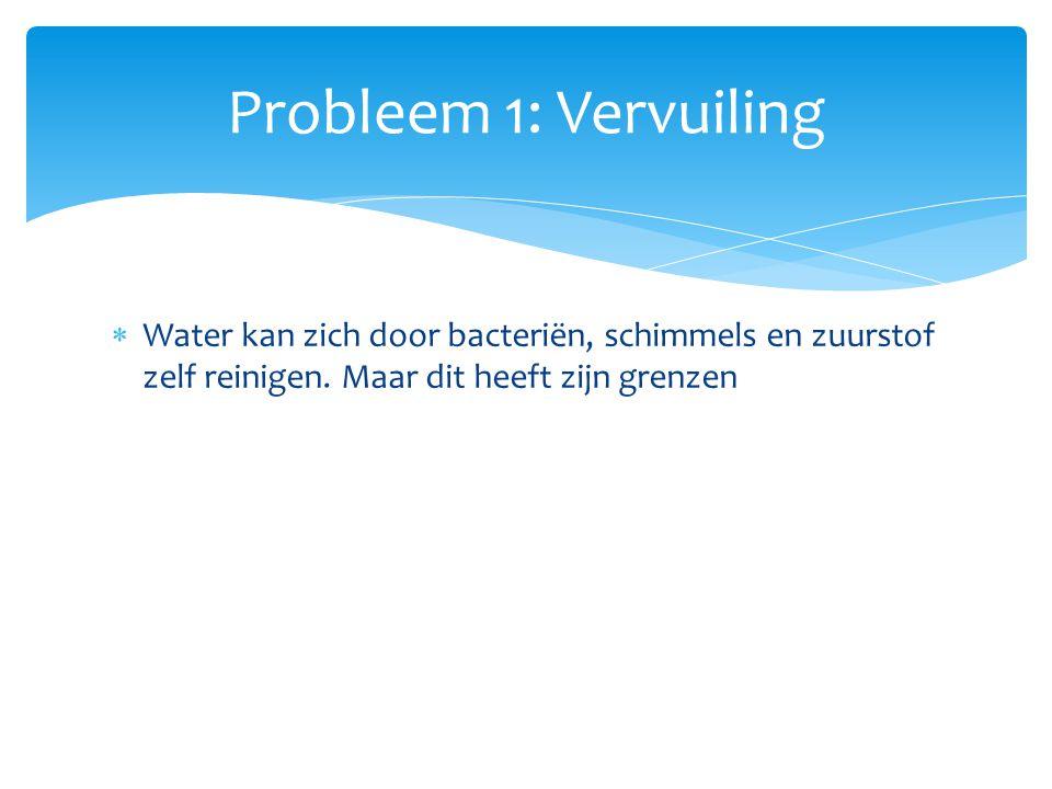  Water kan zich door bacteriën, schimmels en zuurstof zelf reinigen.