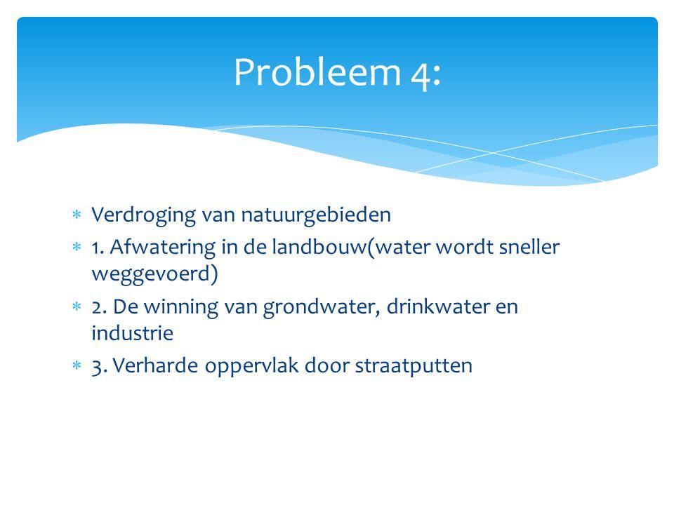  Duurzaam watergebruik  Bufferzones: stukken land rond natuurgebieden die klappen opvangen.
