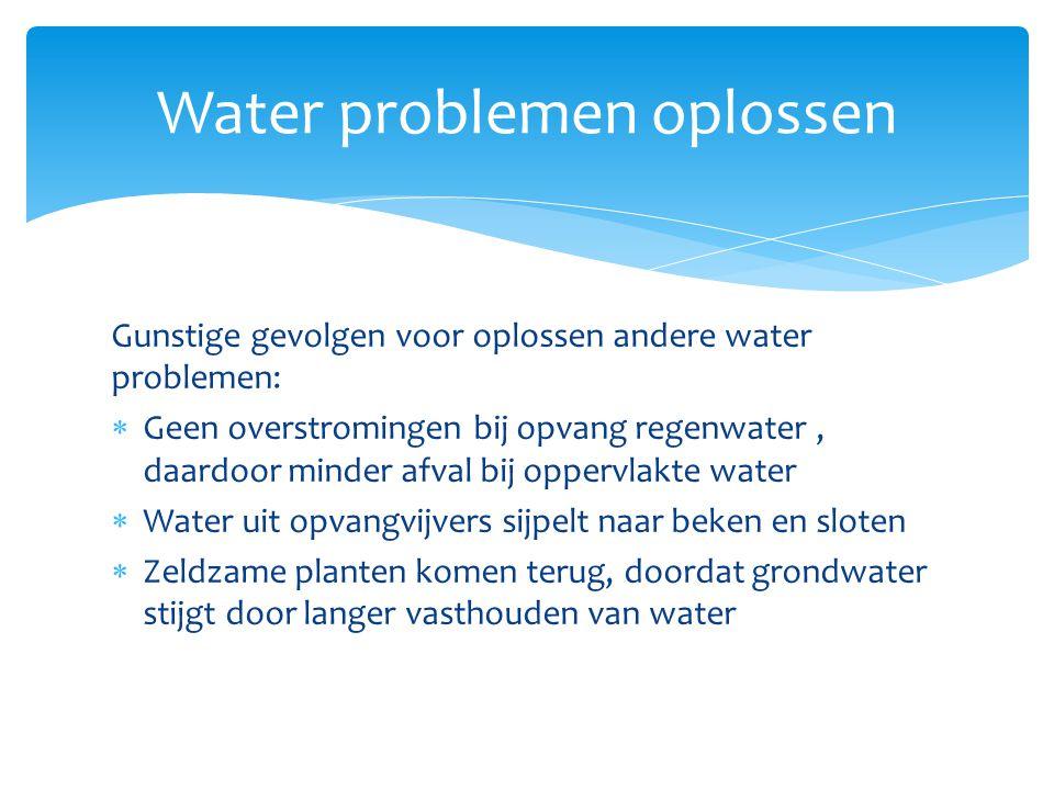  Watermanagement waarbij diverse waterproblemen worden bekeken en opgelost Integraal waterbeheer