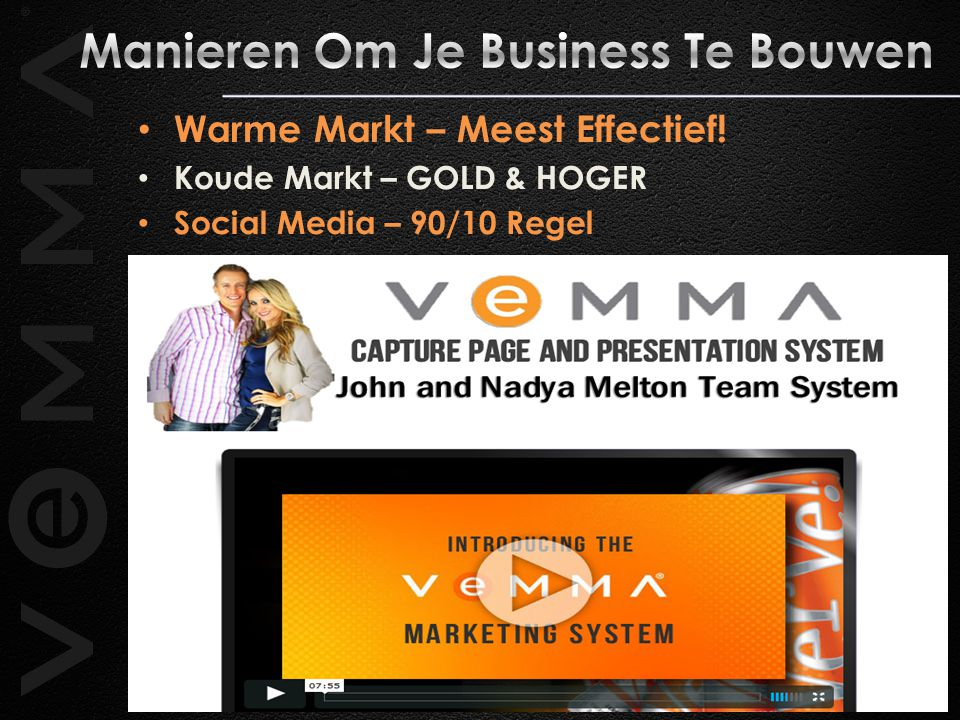 Warme Markt – Meest Effectief! Koude Markt – GOLD & HOGER Social Media – 90/10 Regel