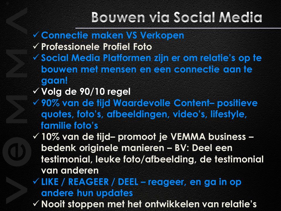 Connectie maken VS Verkopen Professionele Profiel Foto Social Media Platformen zijn er om relatie's op te bouwen met mensen en een connectie aan te gaan.