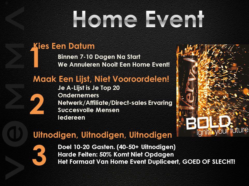 Kies Een Datum Binnen 7-10 Dagen Na Start We Annuleren Nooit Een Home Event.