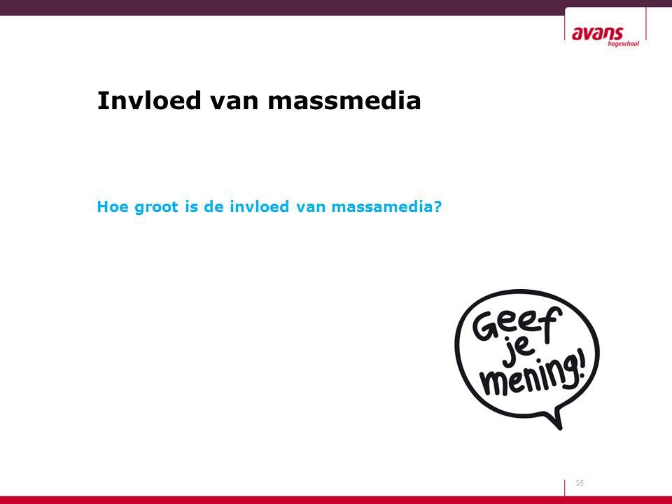 Invloed van massmedia Hoe groot is de invloed van massamedia? 35