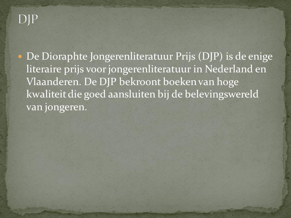 De Dioraphte Jongerenliteratuur Prijs (DJP) is de enige literaire prijs voor jongerenliteratuur in Nederland en Vlaanderen. De DJP bekroont boeken van