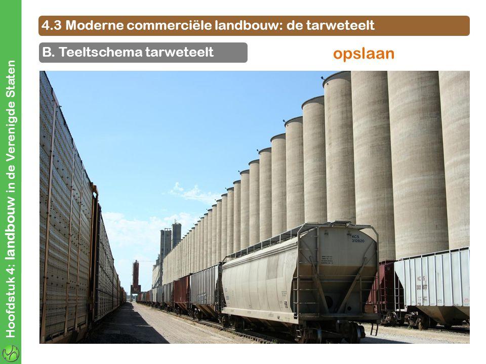 4.3 Moderne commerciële landbouw: de tarweteelt B. Teeltschema tarweteelt Hoofdstuk 4: landbouw in de Verenigde Staten opslaan