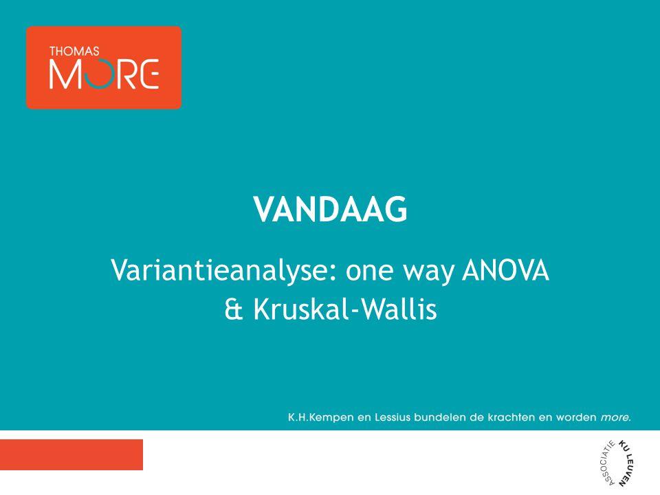 Eénwegs-variantie analyse -> 1 OV met meer dan twee waarden -> 1 AV is er een verschil in het welbevinden van kinderen met ouders die autoritair, autoritatief, of permissief opvoeden.