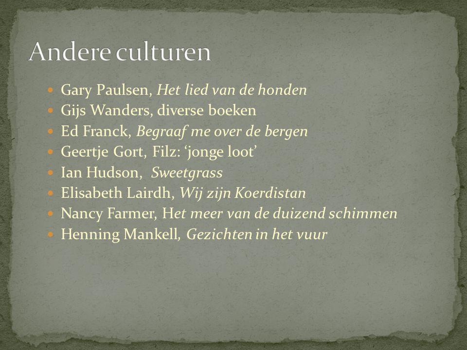 Gary Paulsen, Het lied van de honden Gijs Wanders, diverse boeken Ed Franck, Begraaf me over de bergen Geertje Gort, Filz: 'jonge loot' Ian Hudson, Sw