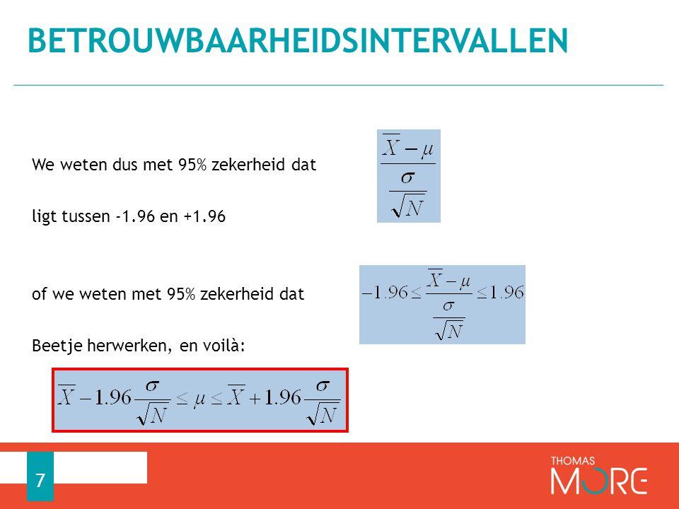 Van een steekproef (N = 121) is het gemiddelde = 101 en de standaarddeviatie = 14.