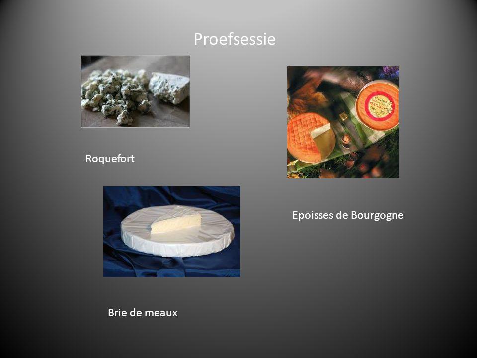 Roquefort Epoisses de Bourgogne Brie de meaux Proefsessie