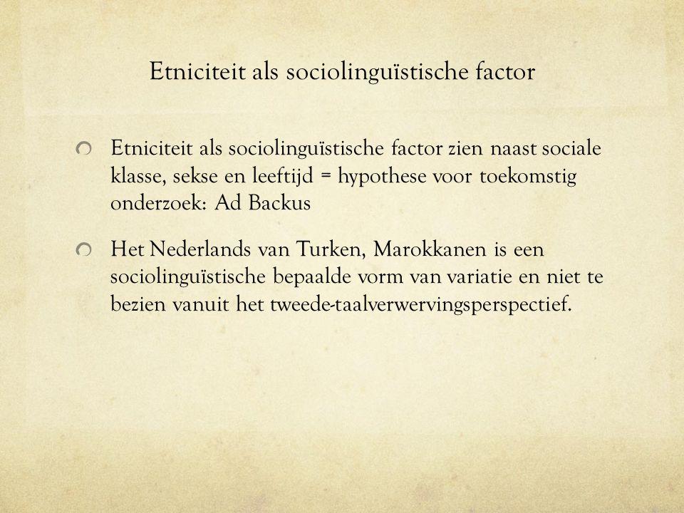 Tweede taalverwerving Immigranten die het Nederlands als tweede taal leren.