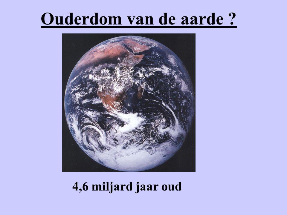 Ouderdom van de aarde ? 4,6 miljard jaar oud