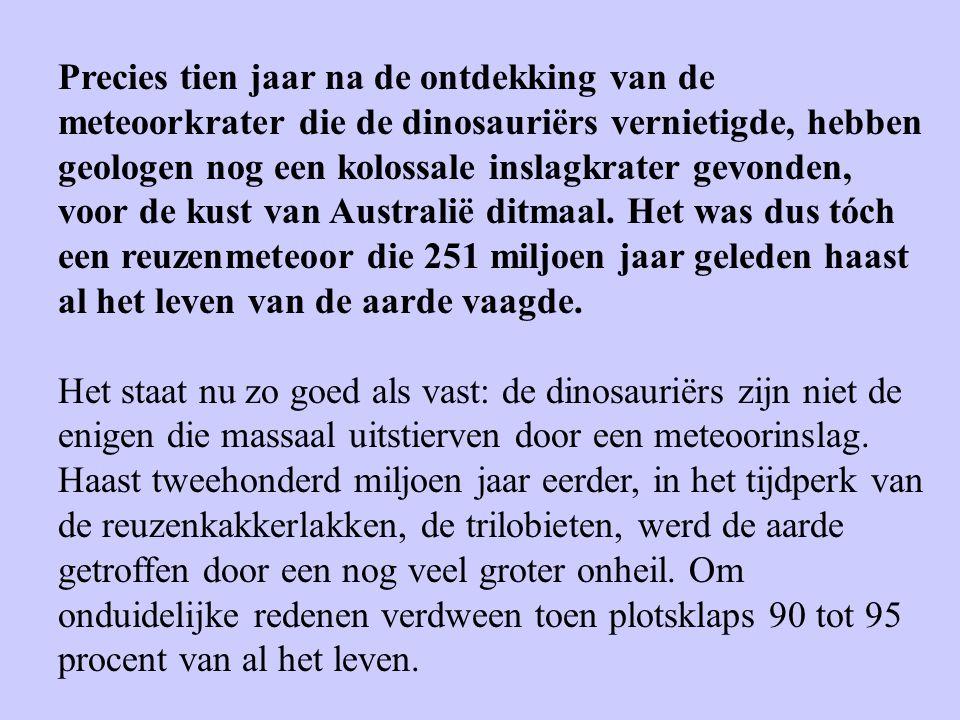 Precies tien jaar na de ontdekking van de meteoorkrater die de dinosauriërs vernietigde, hebben geologen nog een kolossale inslagkrater gevonden, voor