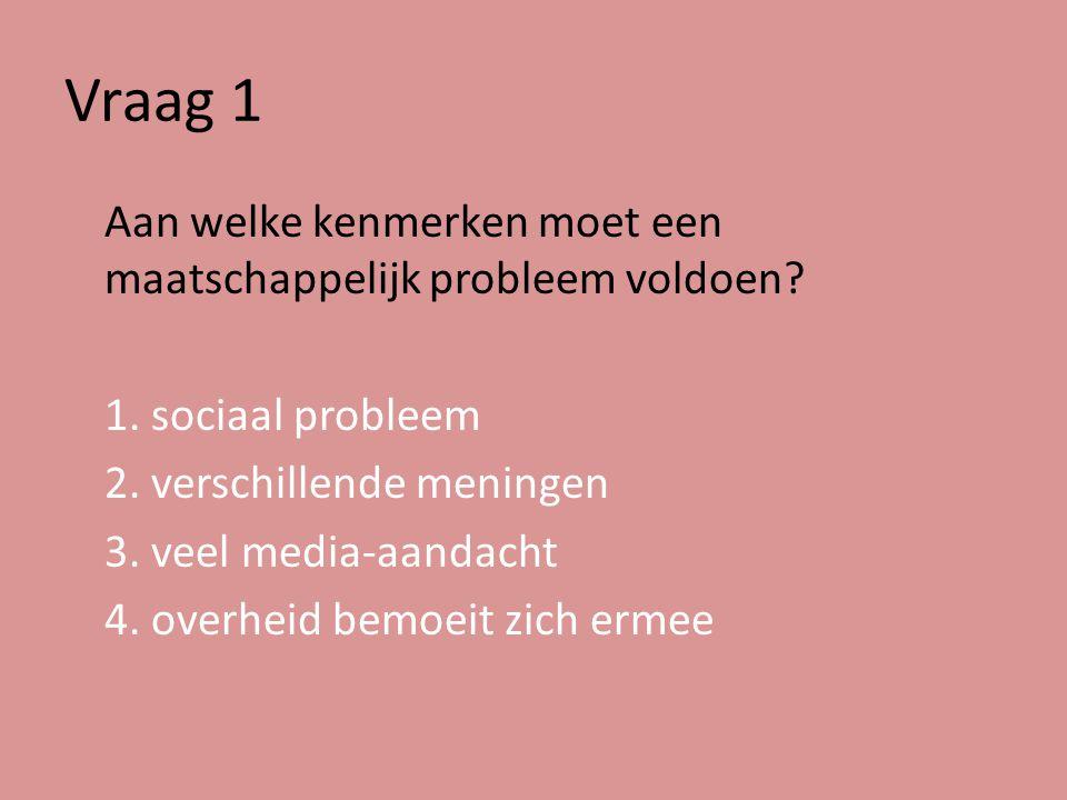 Vraag 2 Welke invalshoeken gebruiken we om maatschappelijke problemen te analyseren?