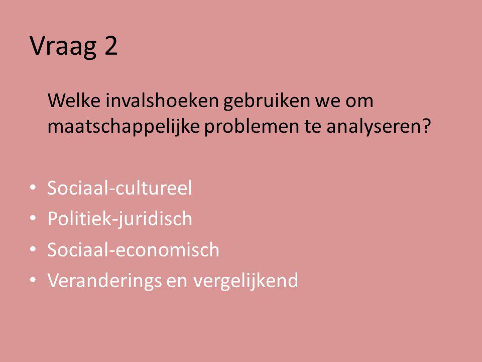 Vraag 3 Welke kenmerken van Nederlandse staat ken je?