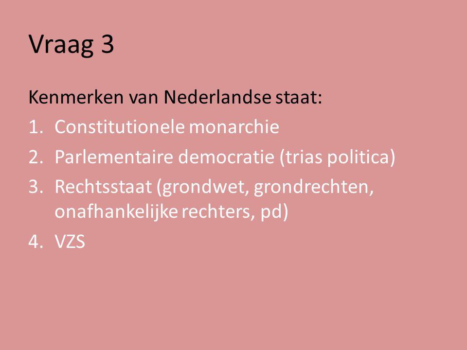 Vraag 19 Welke twee knelpunten kennen we in de Nederlandse politiek?
