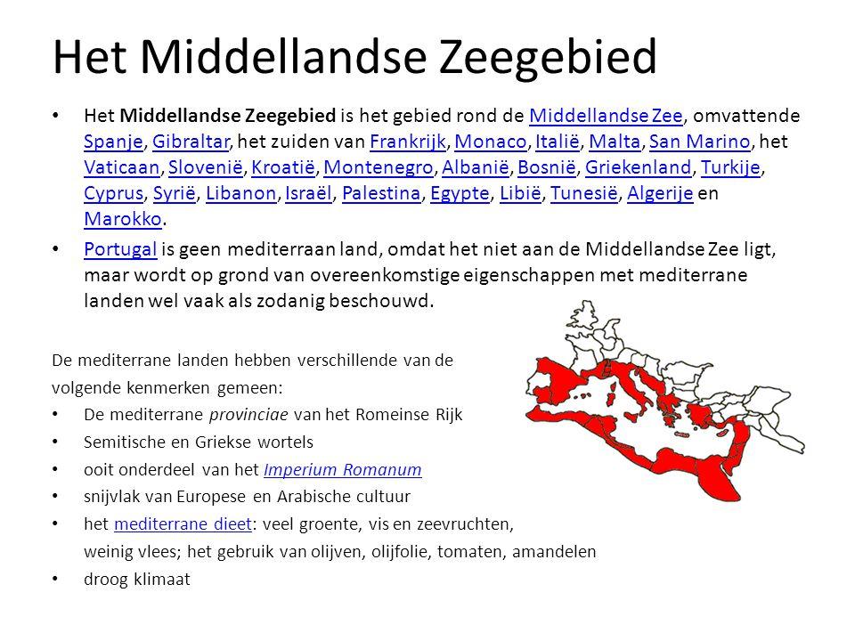 Opdracht In de media wordt het Middellandse Zeegebied vaak aangeduid als een regio. De vraag is echter waar de grenzen van deze regio liggen. 1.Teken