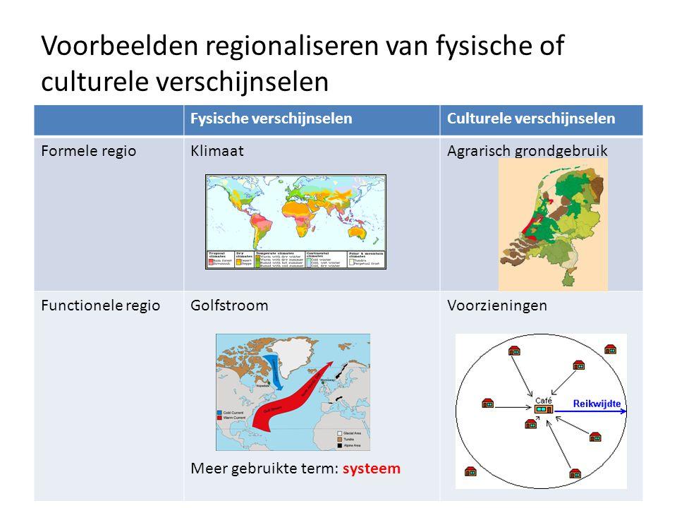 Functionele regio's, bijv. afbakening m.b.v. het garviteitsmodel