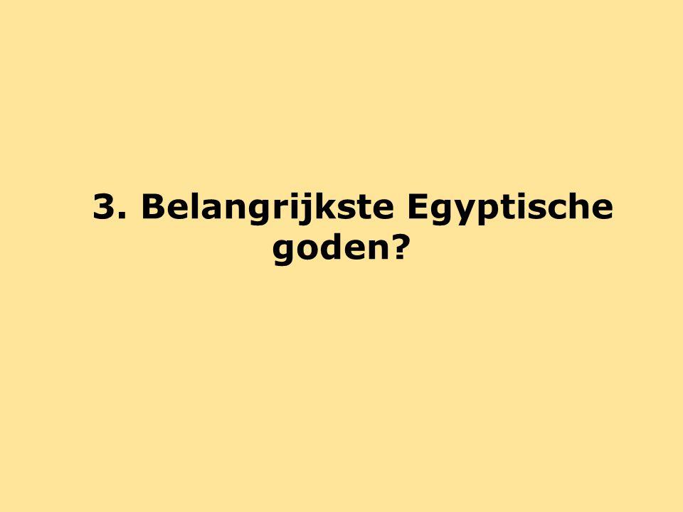Oud-Egyptische godsdienst = polytheïstisch Polytheïsme= het geloof in meerdere goden Andere voorbeelden: Hindoeïsme Oud-Griekse godsdienst Romeinse godsdienst Keltische godsdienst