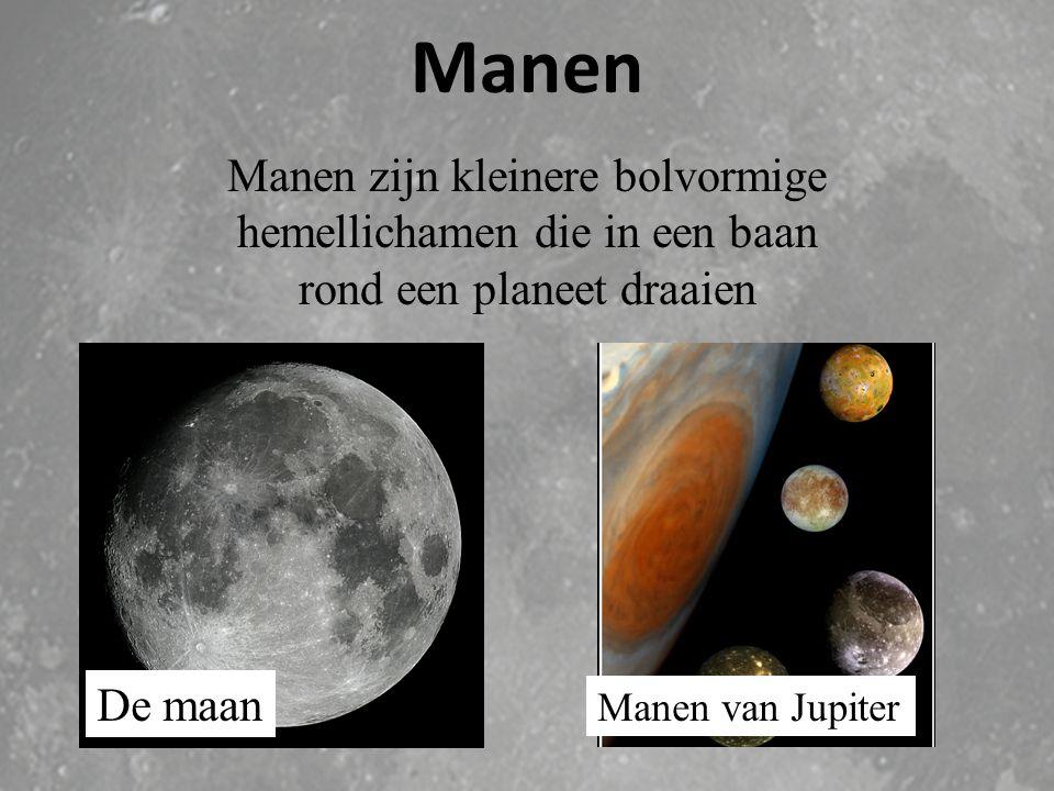 Planeten Definitie van de Astronomische Unie : Een planeet moet een baan om de zon beschrijven; hij moet bolvormig zijn onder invloed van zijn eigen z