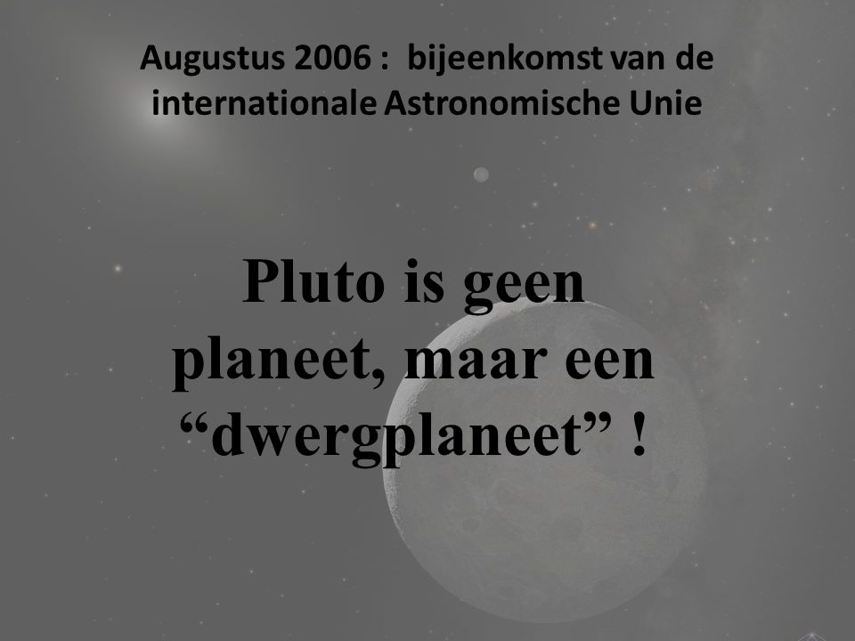 "Opmerking ! Hoeveel planeten in ons zonnestelsel ? 8 planeten !!! ""Aardse"" planeten : Mercurius Venus Aarde Mars ""Gasreuzen"" : Jupiter Saturnus Uranus"