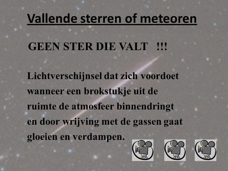 Komeetstaarten BLAUW = GASSTAART GEEL = STOFSTAART