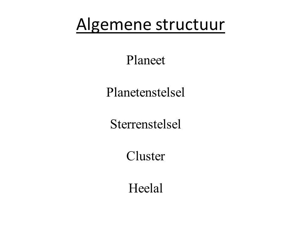 Sterrenstelsels komen in groepen voor, we noemen die CLUSTERS De sterrenstelsels blijven bij elkaar door onderlinge aantrekking Vb : Virgo cluster