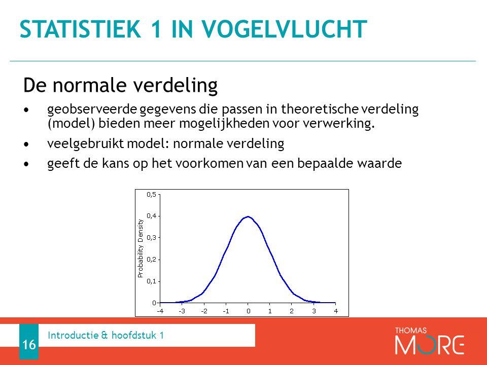 De normale verdeling geobserveerde gegevens die passen in theoretische verdeling (model) bieden meer mogelijkheden voor verwerking. veelgebruikt model