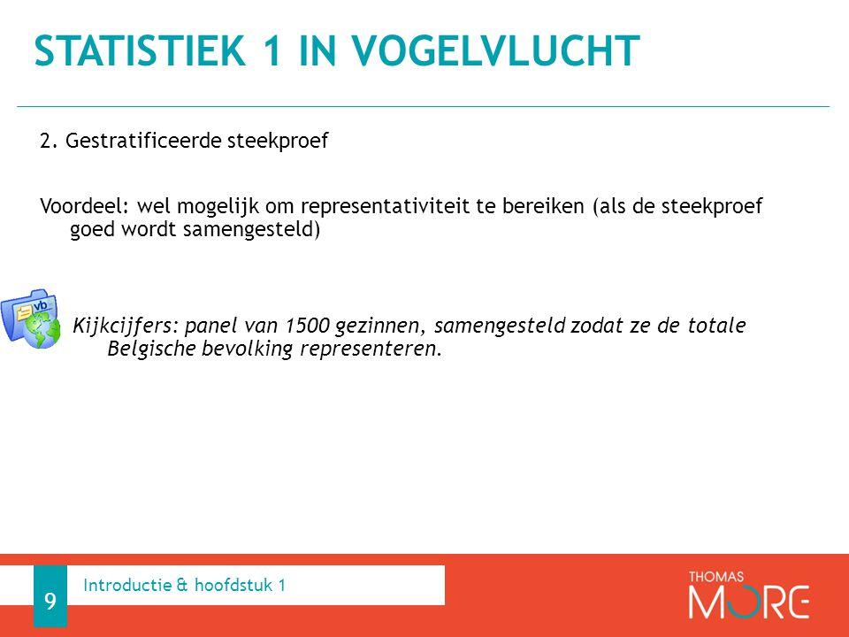2. Gestratificeerde steekproef Voordeel: wel mogelijk om representativiteit te bereiken (als de steekproef goed wordt samengesteld) Kijkcijfers: panel