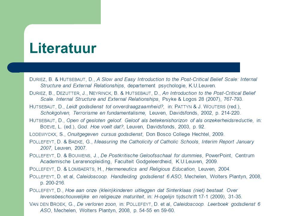 Prof.Dirk Hutsebaut, in: Van den Broek, G., De verloren zoon, Caleidoscoop 6, p.