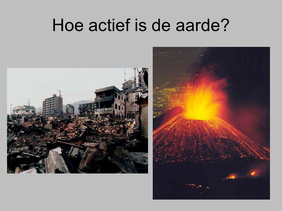 Hoe actief is de aarde?