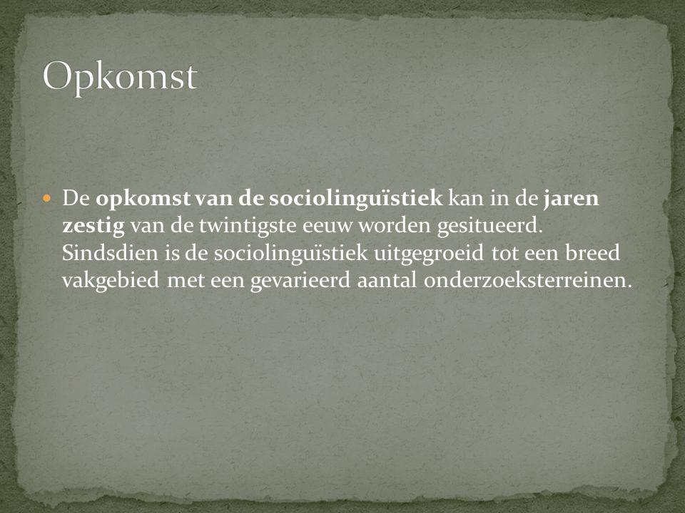 Sociolinguïstiek gaat over………… Voorbeelden uit de kranten en taalmethodes Volgende week: iedereen neemt een voorbeeld mee naar de les