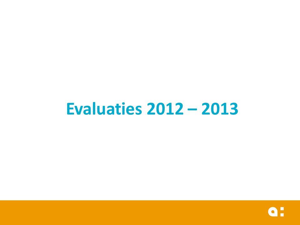 Evaluaties 2012 – 2013