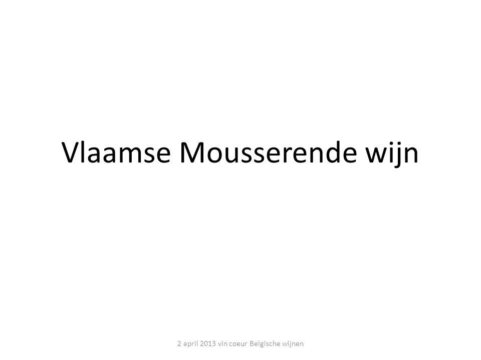 Vlaamse Mousserende wijn 2 april 2013 vin coeur Belgische wijnen