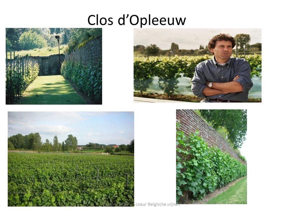 Clos d'Opleeuw 2 april 2013 vin coeur Belgische wijnen