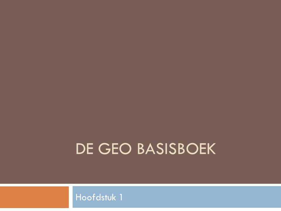 DE GEO BASISBOEK Hoofdstuk 1