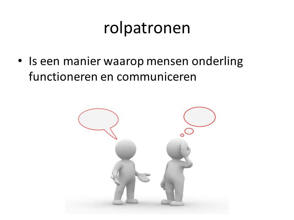 Is een manier waarop mensen onderling functioneren en communiceren