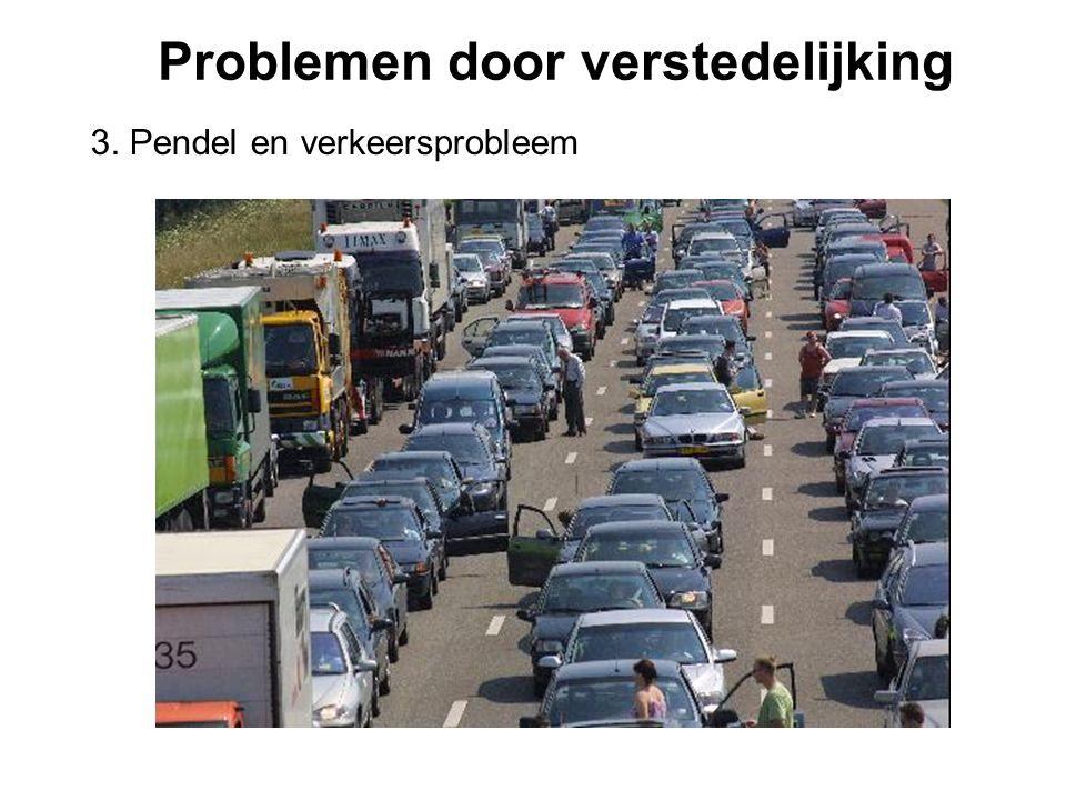 Problemen door verstedelijking 3. Pendel en verkeersprobleem