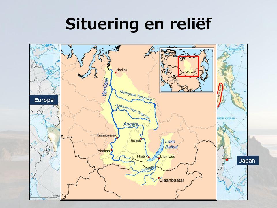 Klimaat en vegetatie Dudinka (69°N, 86°E)Irkutsk (52°N, 104°E) Koud klimaat met dooiseizoen Toendra Koud gematigd klimaat Taiga