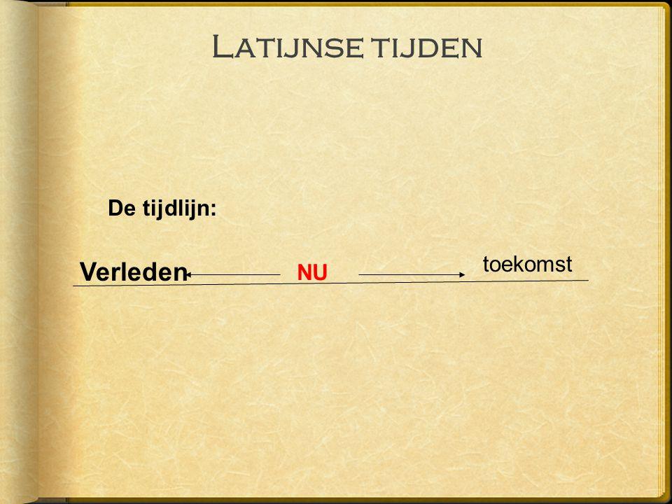 Latijnse tijden De tijdlijn: NU toekomst Verleden