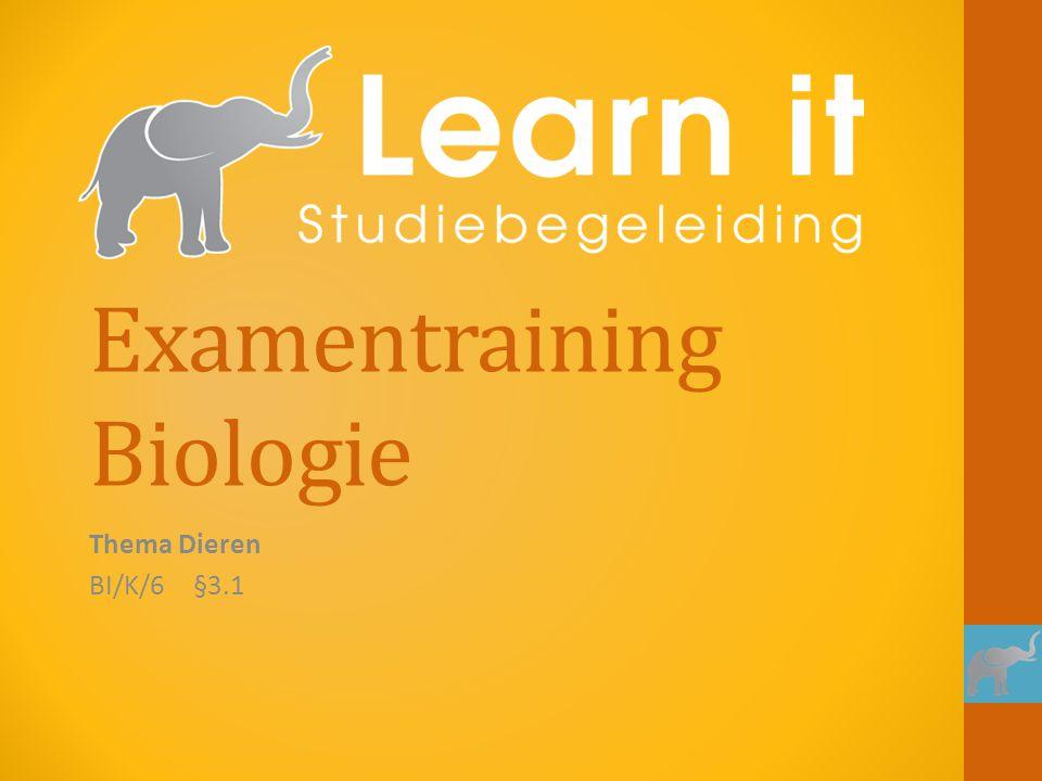 Examentraining Biologie Thema Dieren BI/K/6§3.1