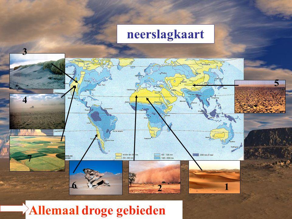 neerslagkaart 2 3 4 5 6 1 7 Allemaal droge gebieden