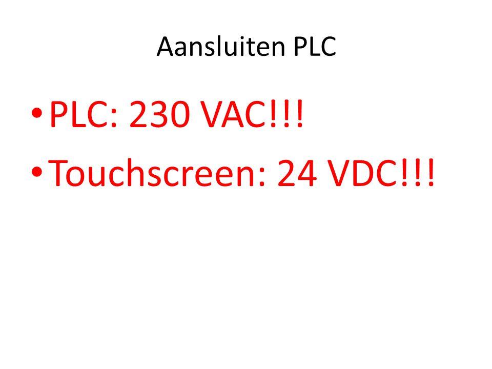 Geef de PLC al dan niet een eigen naam KIES VOOR VERSION V2.0!!!