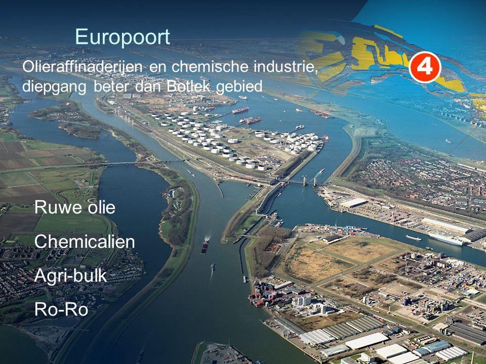 Europoort Ruwe olie Chemicalien Agri-bulk Ro-Ro 4 Olieraffinaderijen en chemische industrie, diepgang beter dan Botlek gebied