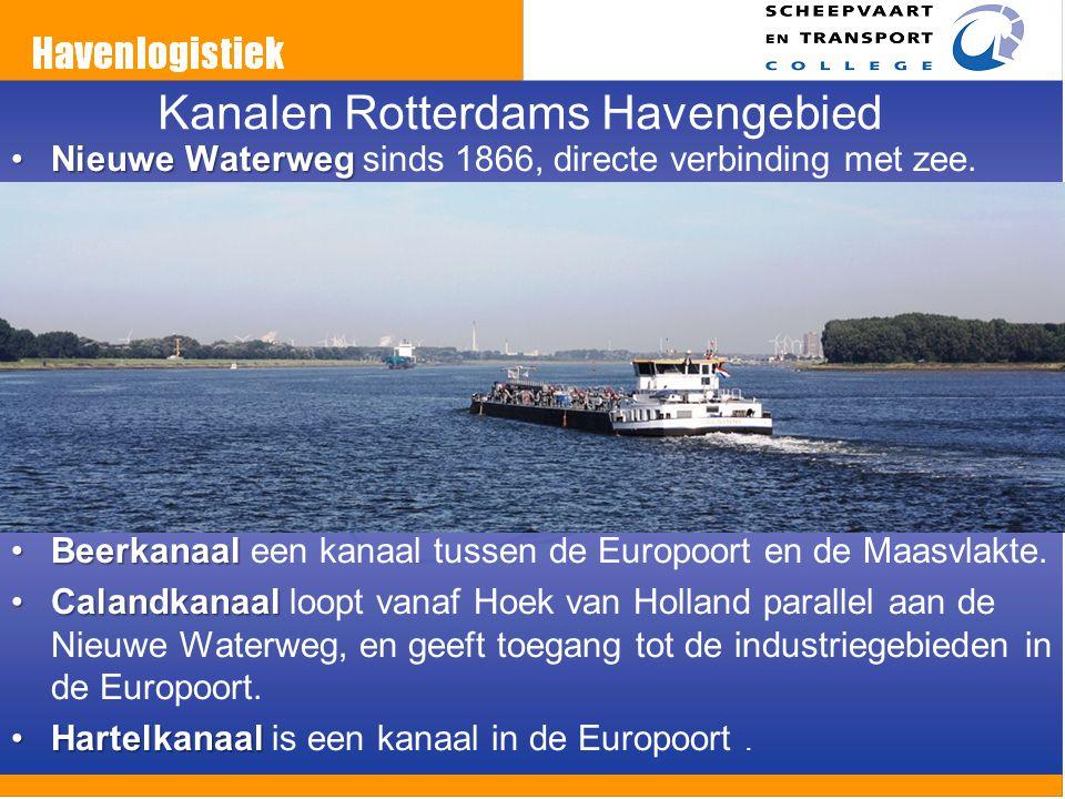 Kanalen Rotterdams Havengebied Nieuwe WaterwegNieuwe Waterweg sinds 1866, directe verbinding met zee. BeerkanaalBeerkanaal een kanaal tussen de Europo