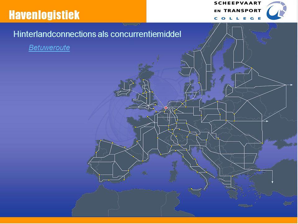 Hinterlandconnections als concurrentiemiddel Betuweroute