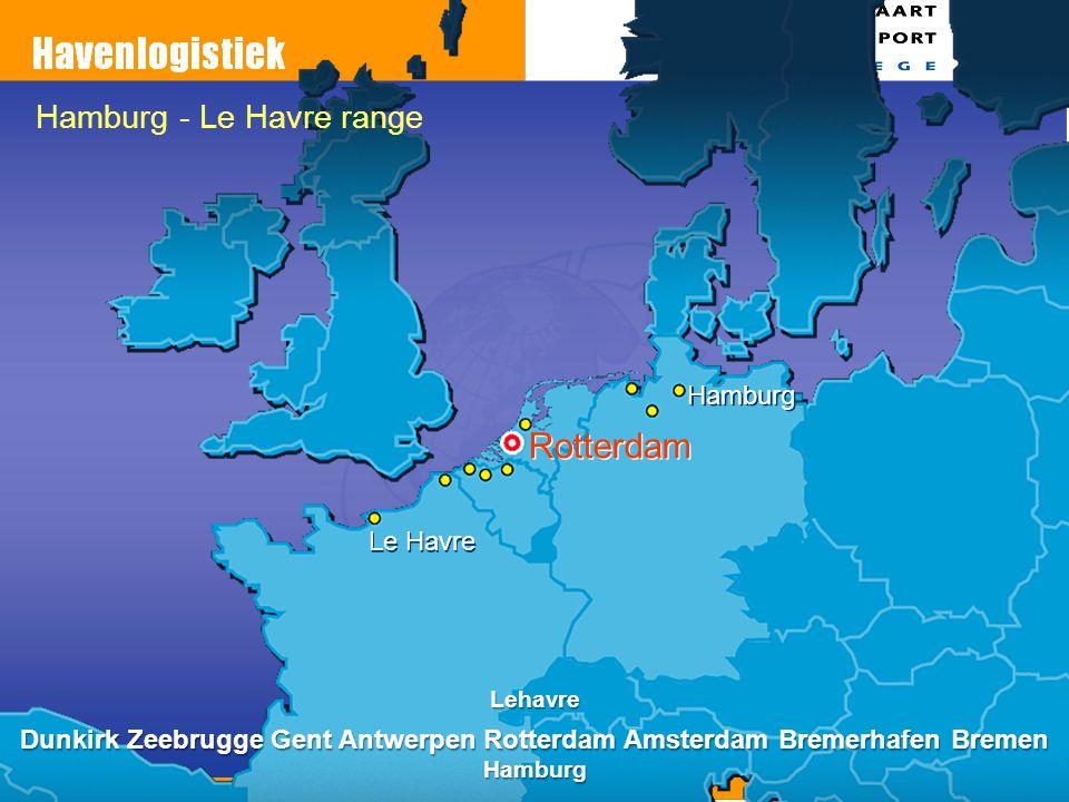 Rotterdam Le Havre Hamburg Hamburg - Le Havre range Lehavre Dunkirk Zeebrugge Gent Antwerpen Rotterdam Amsterdam Bremerhafen Bremen Hamburg