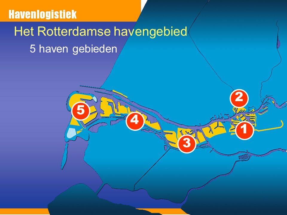 5 4 3 2 1 Het Rotterdamse havengebied 5 haven gebieden