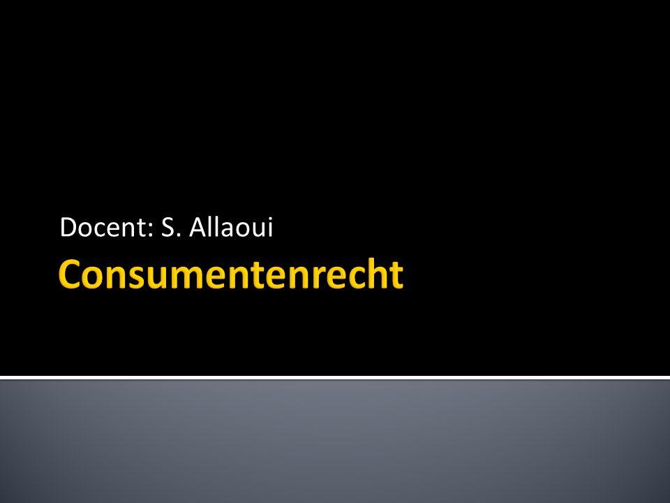 Docent: S. Allaoui