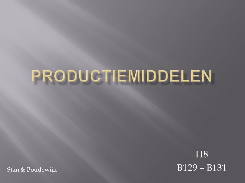 Om een product te produceren heb je drie productiemiddelen nodig: - Arbeid - Kapitaal - Natuur